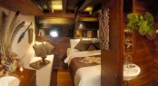 Luxury accommodation aboard Silolona