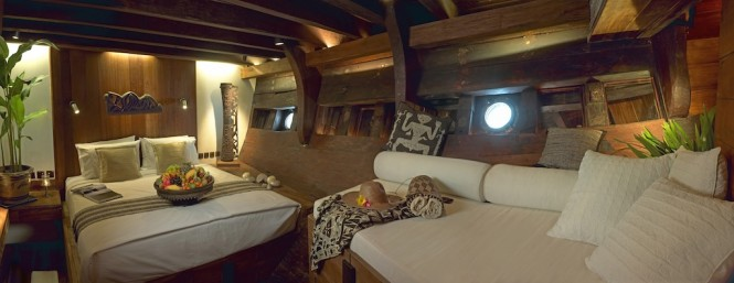 Luxury accommodation aboard phinisi yacht Silolona