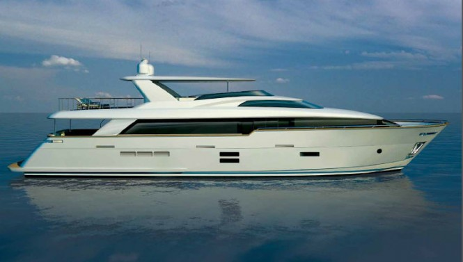 Luxury yacht 100 RPH - side view