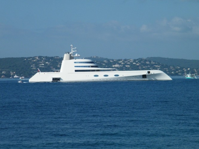 Luxury yacht A designed by Starck Design - Photo David Z Hart