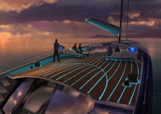 Luxury yacht EXO concept - Deck
