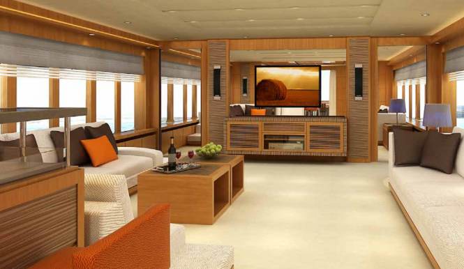 Luxury yacht Electra by IAG Yachts - Main Saloon