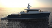 Luxury yacht Global Explorer - side view