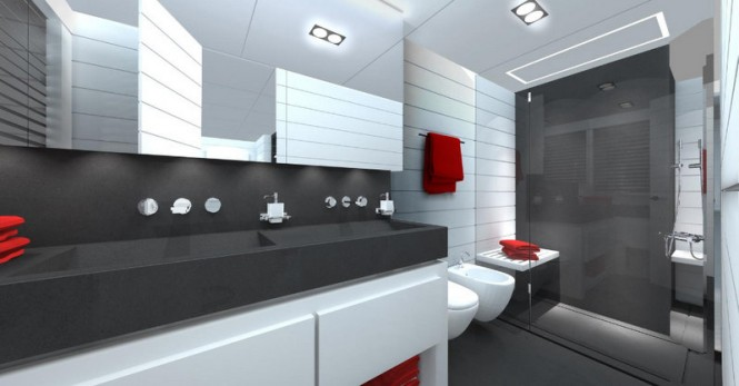 Luxury yacht Mangusta 110 - Bathroom