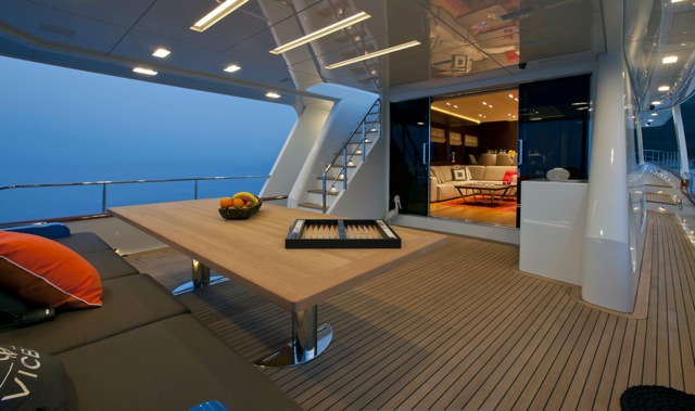Luxury yacht Moni Aft Deck
