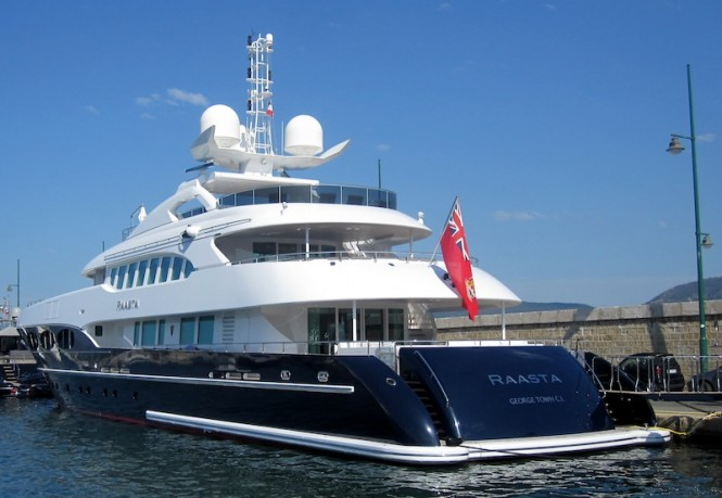 Luxury yacht Raasta