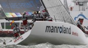 Manroland Sheetfed wins this year�s J.P. Morgan Asset Management Round the Island Race Gold Roman Bowl. Photo: Paul Wyeth