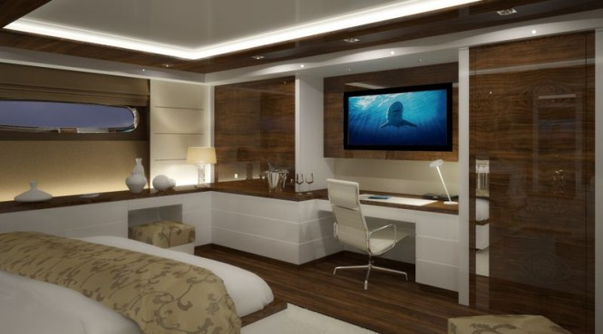 Motor yacht Nassima - Owners stateroom Photo credit VDP Studio
