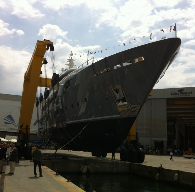 Mulder designed 46m Rossinavi motor yacht 2 Ladies (hull FR025) at her launch