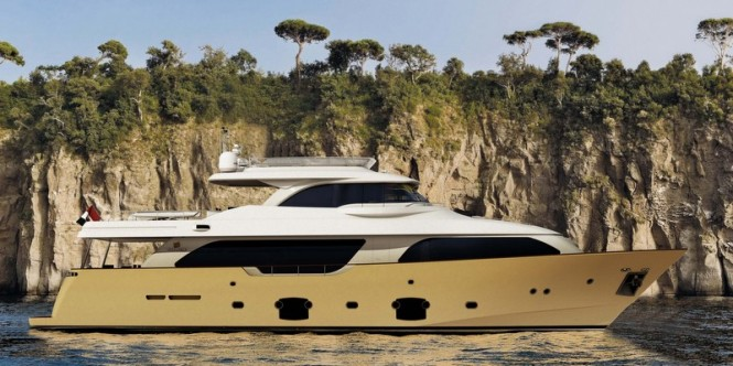 Navetta 26 Crescendo Superyacht - Image courtesy of Ferretti