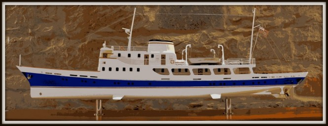 New restoration project of the 52m historical motor yacht AMBRIABELLA by Quaiat Yard