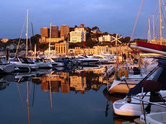 Photo Comp Winner - Christopher Corton with 'Stunning sunset across Torquay Marina'