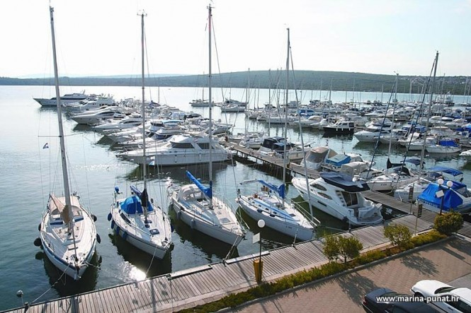 Punat Marina situated on the island of Krk in Croatia