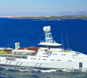 67m Amels SEA AXE 6711 superyacht support vessel GARÇON to be on display at Monaco Yacht Show