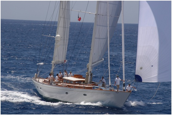 Stephens Waring designed 27m sailing yacht Bequia at the 2012 Pendennis Cup