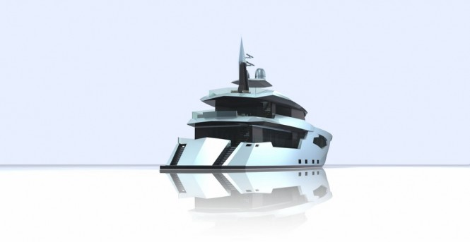 Superyacht SCORPIO - rear view