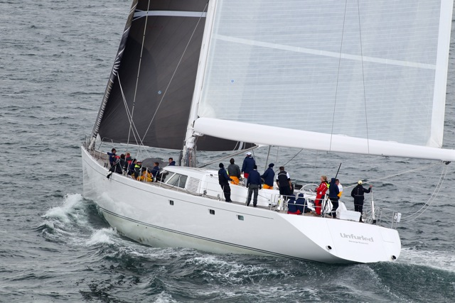 Superyacht Unfurled currently leading in Class 2