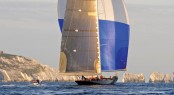 Superyacht Velsheda in the Solent