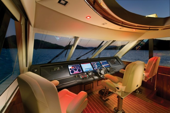 The 75 yacht is certainly the ultimate Riviera and with an impressive helm station it is perfect for long range cruising