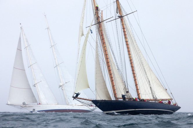 The damp weather marked Racing Day 1 in the 3rd Pendennis Cup