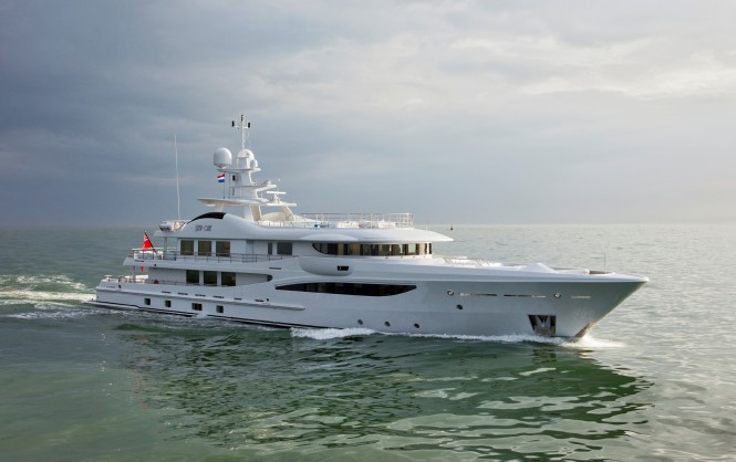 The first Amels LE180 superyacht STEP ONE to make her debut at Monaco Yacht Show 2012