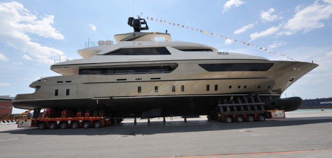 The launch of the 46m motor yacht Achilles by Sanlorenzo