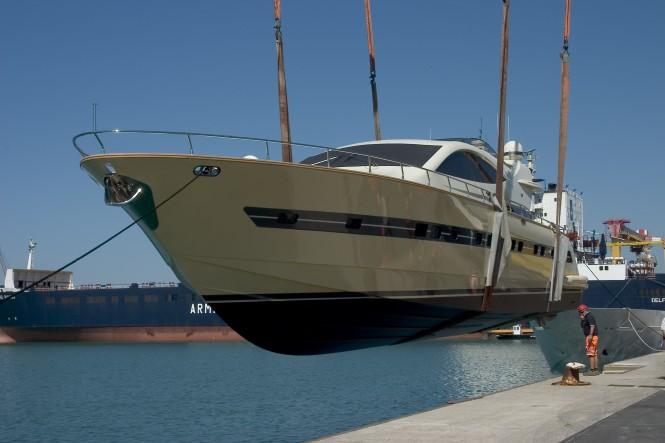The launch of the new Cerri 86 motor yacht PACHAMAMA by Cerri Shipyard