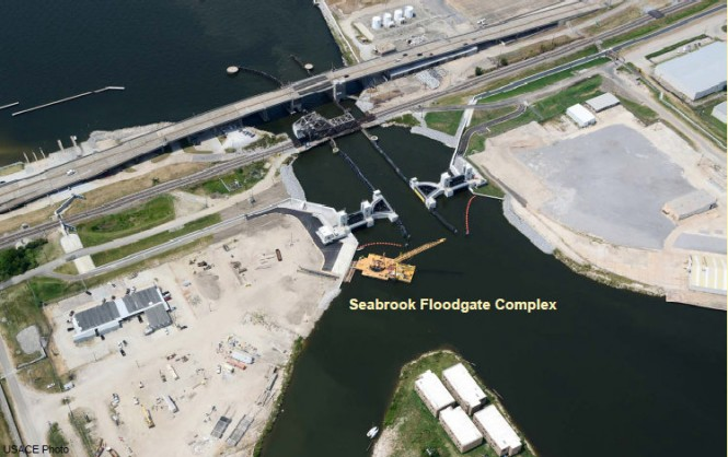 The new Seabrook Floodgate Complex