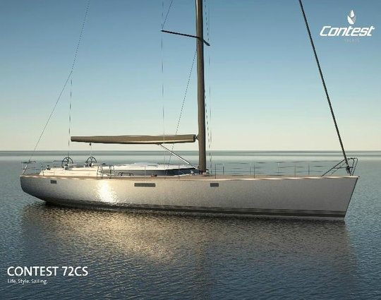 The new sailing yacht Contest 72CS by Contest Yachts to debut at HISWA in-water Boat Show