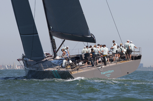 WallyCento superyacht Hamilton - the overall winner of the 2012 Superyacht Cup Cowes