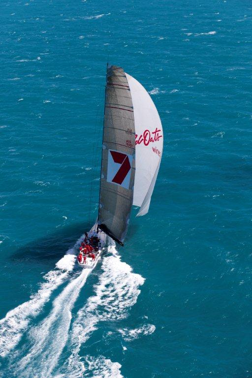 Wild Oats XI superyacht under spinnaker