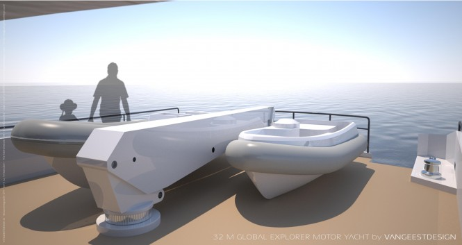 Yacht tenders aboard Global Explorer yacht