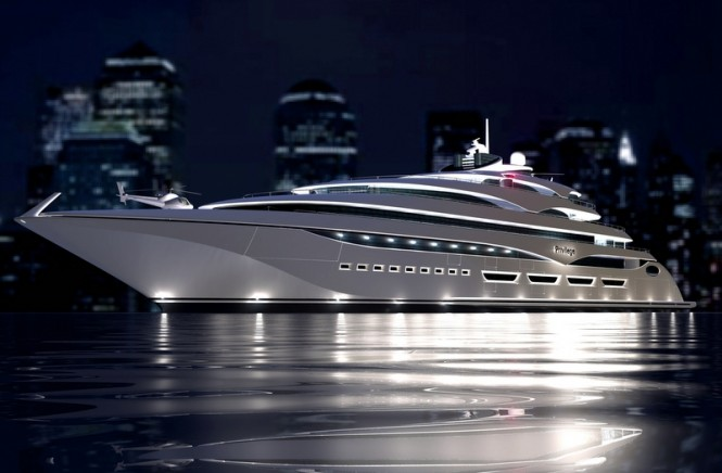 127m megayacht Privilege One currently in build at the Privilege Yard