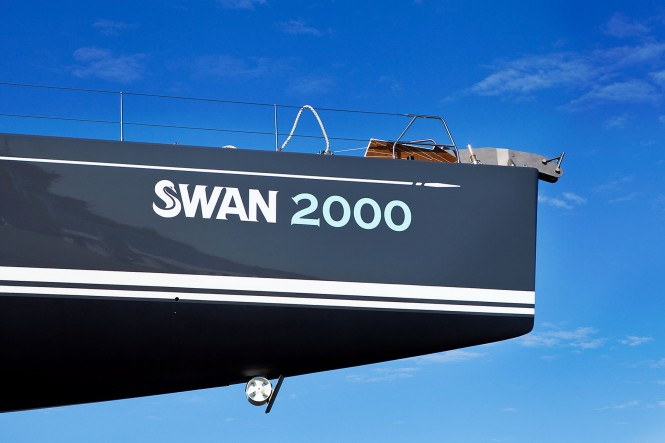 2000th Swan being launched - Swan 90 yacht Freya  Eva-Stina Kjellman 2012