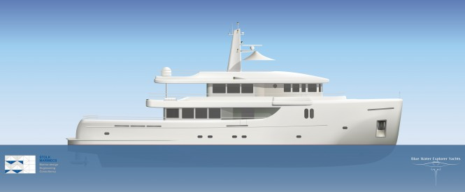 35m Bluewater explorer yacht by Stolk Marimecs - Profile view