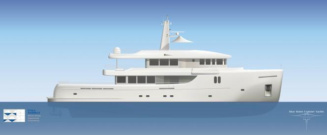 35m Bluewater explorer yacht by Stolk Marimecs - Profile view