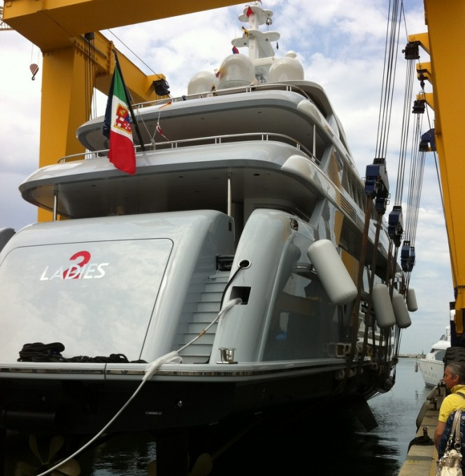46m 2 Ladies superyacht by Rossinavi at launch