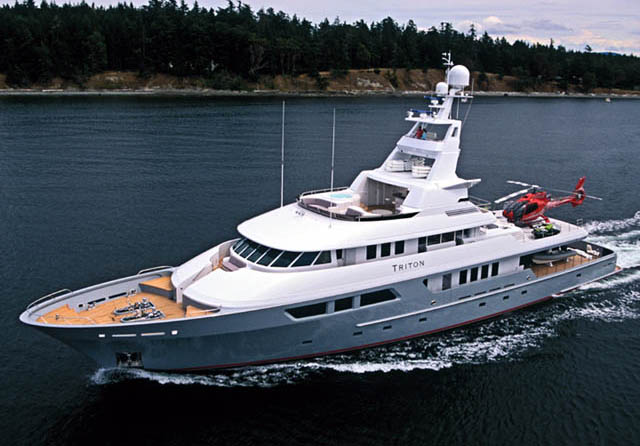 50m expedition yacht TRITON - Image by Delta Marine