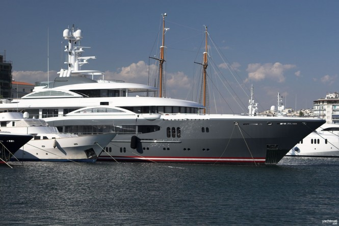 68m Lurssen megayacht KISMET - Image by YachtMati