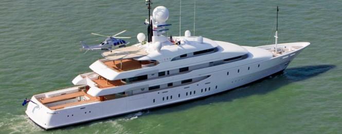 74m Amels megayacht ILONA after refit