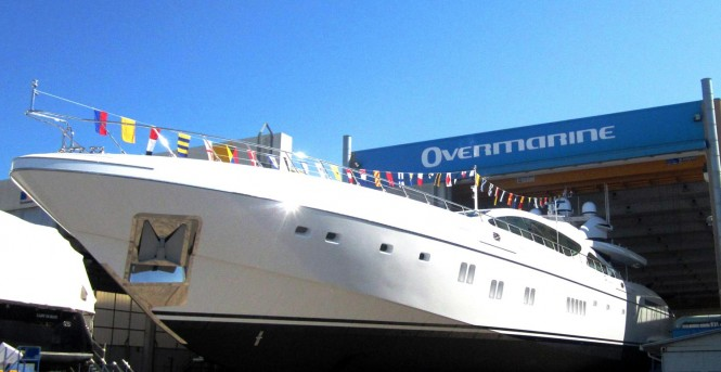 7th Mangusta 165 superyacht at launch