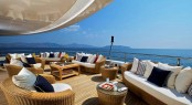 82m mega yacht O&#039;MEGA upper deck