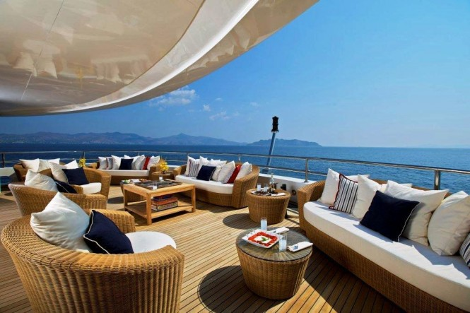 82m mega yacht O'MEGA upper deck