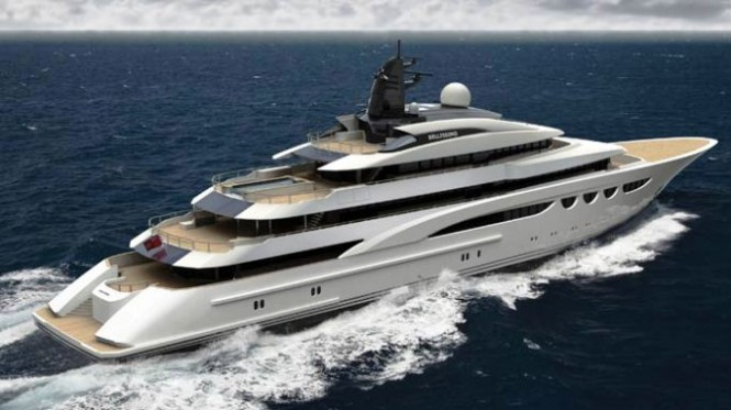 88m luxury motor yacht Quatroelle (Project Bellissimo) by Lurssen and Nuvolari Lenard