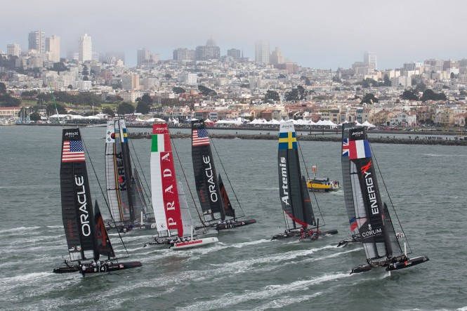 Practice session in San Francisco Bay