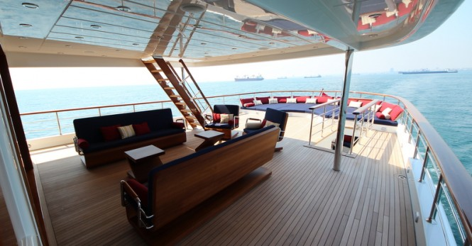 Aboard Bilgin motor yacht M&M
