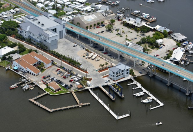 Aerial view of Diversified Yacht Services (DYS) Facility