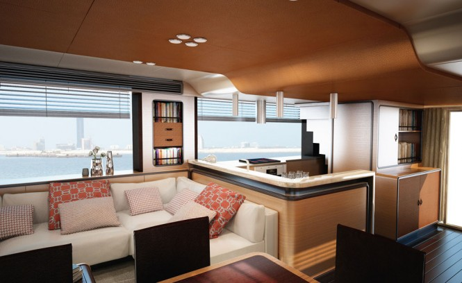 Azimut Magellano 76 yacht - Galley