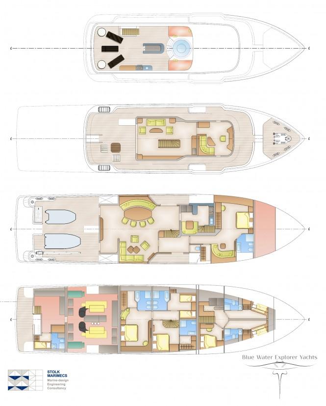 Bluewater superyacht by Stolk Marimecs - Layout