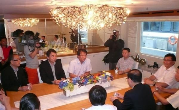 Chairman of Mainland China's National Tourism Administration aboard Horizon Polaris superyacht